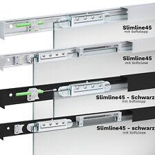 Komplettset Glasschiebetür Slimline45 System SoftClose SoftStop konfigurierbar