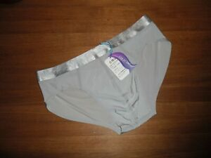 Mens X Large Seamless Second Skin Satin Ice Silk Silver Briefs Lingerie Gay UK