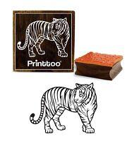 Printtoo Craft Textil Tiger-Muster-Quadrat Aus Holz Stempel Schrott-Anmeldung