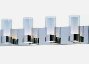 Maxim Lighting 23074CLFTPC Silo Bathroom Vanity Light Polished Chrome