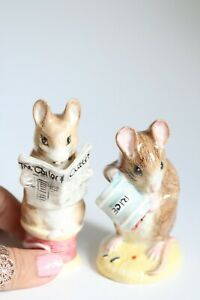 2x Royal Albert Beatrix Potter Collectable Mouse Figurines - Perfect Condition!