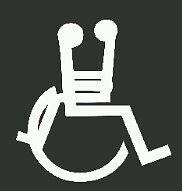 Funny decal handicap sex vinyl Window decal