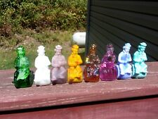 Mosser Glass Clowns - Clowns on a Barrel - 1982 - Lot of 8