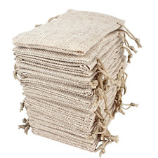 Hapdoo Lot of 100 Burlap Bags with Drawstring Gift Bags Jewelry Pouches Sacks 5
