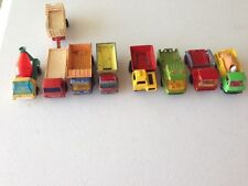 Matchbox 1970's Lot of 8 Vintage Construction Trucks