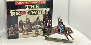 King & Country TRW003 Mounted Dragoon With Sword The Real West W/ Box