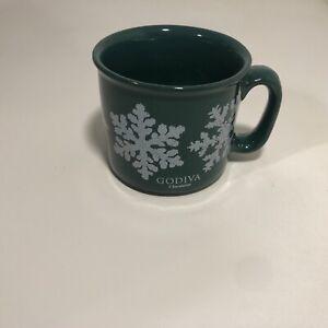 Green Snowflake Christmas Mug Coffee/ Tea Godiva Chvalatier