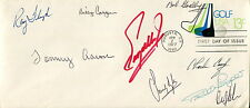MASTERS GOLF CHAMPIONS VINTAGE HAND SIGNED GOLF ENVELOPE+COA       SIGNED BY 9