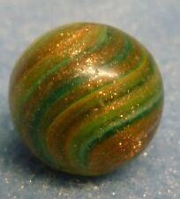 """German Hand Made Marble Lutz Onion Skin Swirl Antique 9/16"""""""