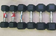 Complete Rubber Dumbbell Set 10-20 Lbs (10,15,20 Pairs)