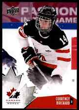 2015-16 Upper Deck team canada Courtney Birchard #72