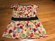 Anthropologie Odille Floral Ruffle Blouse Size 6