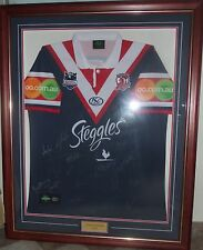 2010 ROOSTERS JERSEY-FRAMED & SIGNED-GREAT MEMORABILIA PIECE TO OWN+COLLECTION