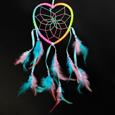 Dream Catcher Heart shape Handmade Hanging Decoration Multi color Indian Style