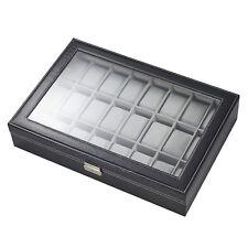 Uhrenkoffer für 24 Uhren Uhrenaufbewahrung Uhrenvitrine Uhrenkasten Uhrenbox