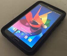 "SAMSUNG GALAXY TAB 3 SM-T217A 7"" 16GB 4G AT&T BLACK TABLET W/ OTTER BOX BUNDLE"