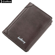 Baellerry D1307 Men Wallets Leather Purse Solid Coin Pocket Coffee