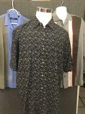 Nat Nast Men's Button Front Short Sleeve 100% Silk Casual Shirt XL Lot of 3