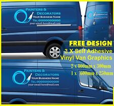 3 Van Stickers Kit Commercial Vinyl Graphics Sign Writing Sign-making Custom A