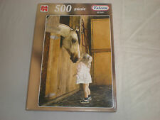 JUMBO FALCOM DELUXE 500 PIECE JIGSAW PUZZLE HORSE AND LITTLE GIRL COMPLETE