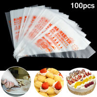 100pcs Plastic Disposable Pastry Bag Icing Piping Cake Cupcake Decorating Bags