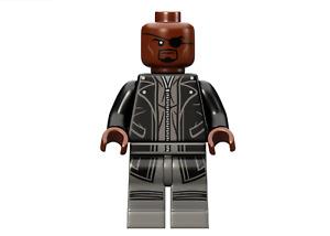 Lego Marvel Avengers Minifigure Nick Fury 76042 & Weapon **New**