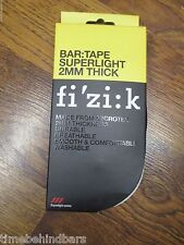 FIZIK SUPER LIGHT 2MM PERFORATEDROAD RIKE HANDLEBAR WRAP TAPE & PLUGS WHITE