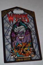 DISNEY WINDOWS OF EVIL URSULA PIN NEW ON CARD LE 2000