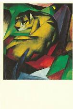 The Tiger 1912 Der Tiger -Paint by Franz Marc 1993 Vintage Art Postcard