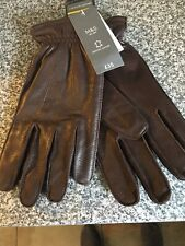 New Size L Genuine Leather Mens Gloves By M&S