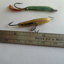 "FISHING LURE  RAPALA 1¼""  JIGGING LURE   GOLD AND UNBRANDED BONUS"