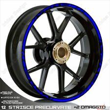 Trims Wheel Stickers Sport Honda VFR 750 800 1200 Blue