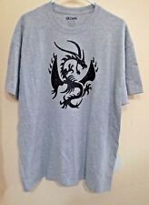 Adult XL T-shirt with black glitter iron on vinyl Dragon---men's, women's