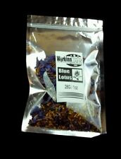Blue Lotus Sacred Lily Nymphaea Caerulea Organic Cut Sifted Egyptian 1oz pouch