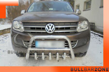 VW AMAROK 2009+ TUBO PROTEZIONE MEDIUM BULL BAR INOX STAINLESS STEEL!
