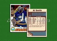 Al Smith - Buffalo Sabres - Custom Hockey Card  - 1976-77