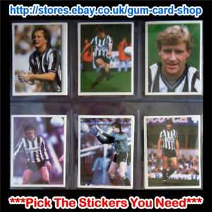 DAILY MIRROR 1986-87 STICK WITH SOCCER (NEWCASTLE UNITED) *SELECT STICKERS*