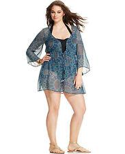 dcdb39efd62 Jessica Simpson Multi Color Medallion Print Swimsuit Cover Up Plus 0X NEW!