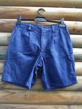 Hard Yakka Men's Blue Work Shorts Size 4 82 R Measured Waist 29