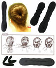 2x HAIR TOOL STYLING Girl MAKE MAGIC SPONGE CLIP FOAM BUN CURLER TWIST T3