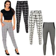 Womens Ladies Trousers Leggings Comfort Elasticated Stretch Pants Slim Size