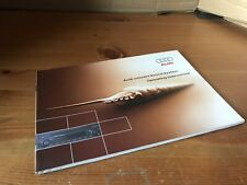 Audi Concert Sound System Operating Instructions Manual 22156644920