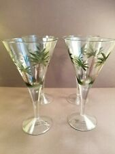 Indoor/Outdoor Palm Trees ACRYLIC Cocktail Wine Glasses (SET OF 4)