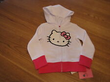 Hello Kitty girls hoodie hoody youth HK54104 white 4 NWT 32.00 ^^