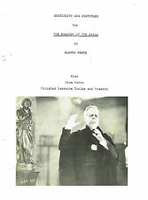 PHANTOM OF THE OPERA SILENT FILM MOVIE SCRIPT COPY 1925 LON CHANEY SR. HORROR
