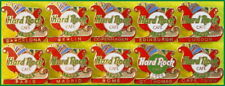 10 Hard Rock Cafe EUROPE/INT'L 1998 Christmas PINS Xmas Sleigh with Presents