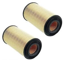 For BMW E31 E34 530i 540i Pair Set of 2 Engine Oil Paper Filters Sets Mahle NEW