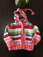 Baby Gap Girl Size 2xl 2 Yrs Cardigan Sweater Long Sleeve Hoodie Multicolor