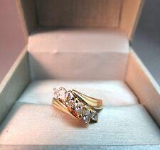 14K Yellow Gold Diamond Marquise Ring 1 CTW 3.93 Grams Size 6.5 IK Italy NICE