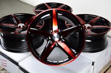 17x7.5 New 5 Stars Red Black Wheels Rims 4x100 4x114.3 4 Lugs Accord Civic Miata